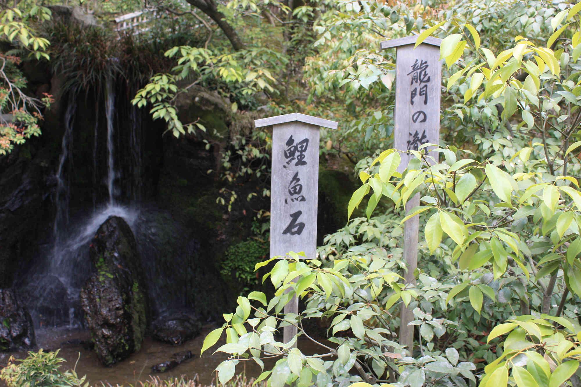 龍門滝と鯉魚石