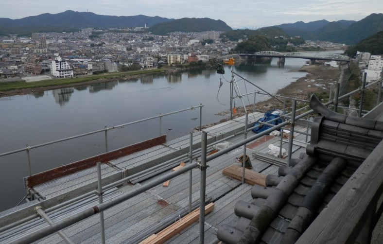 犬山城からの景色 工事中