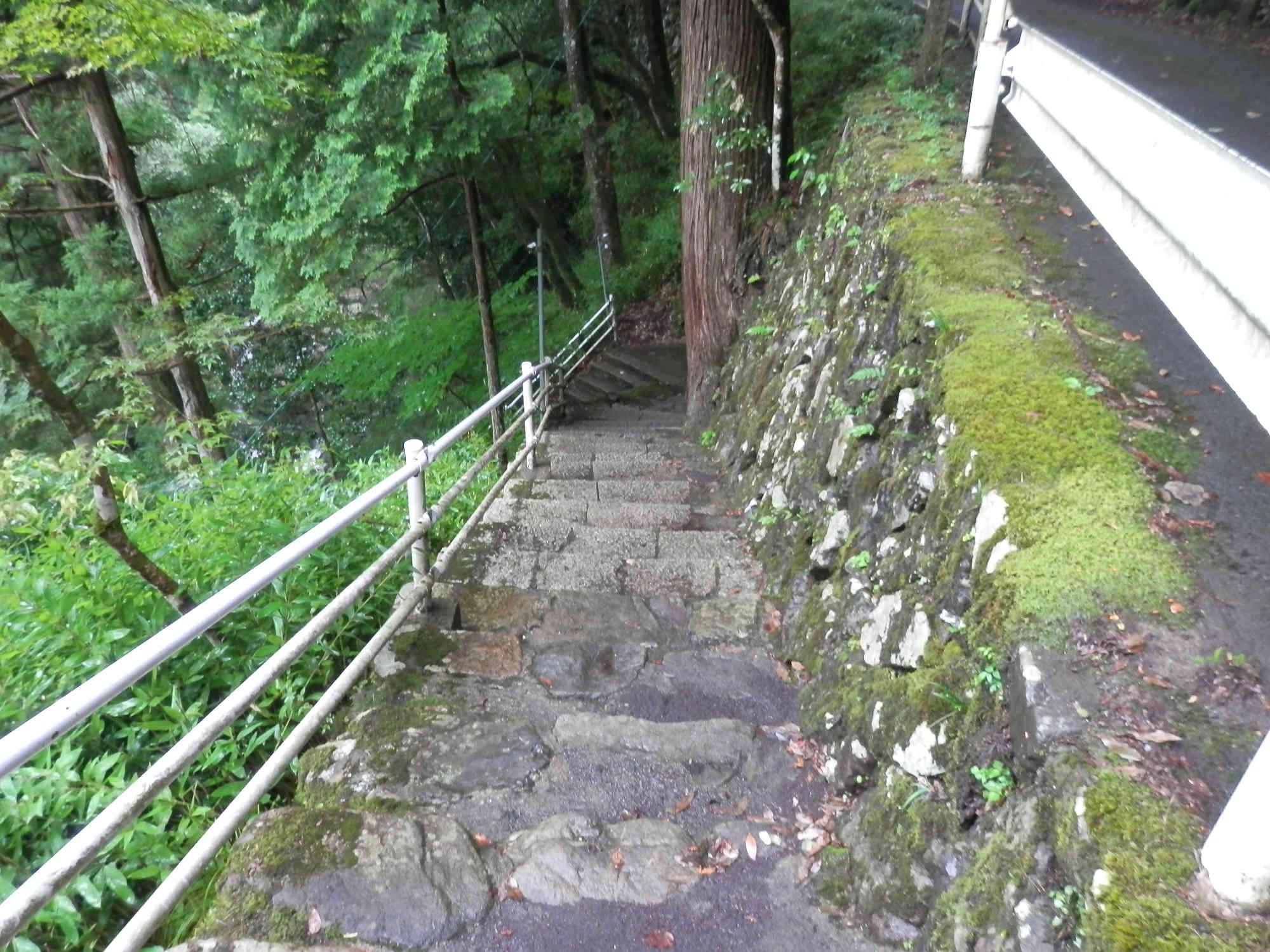 天岩戸神社へ降りる階段