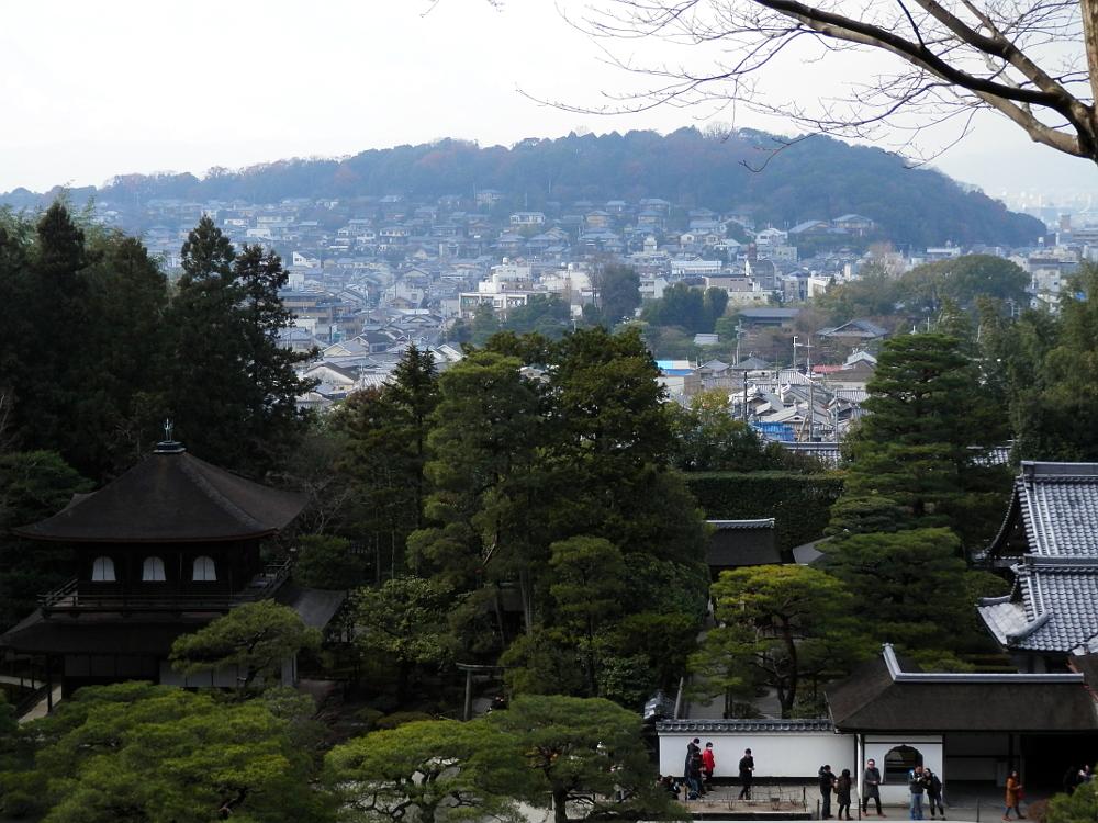 山道からみた京都市内