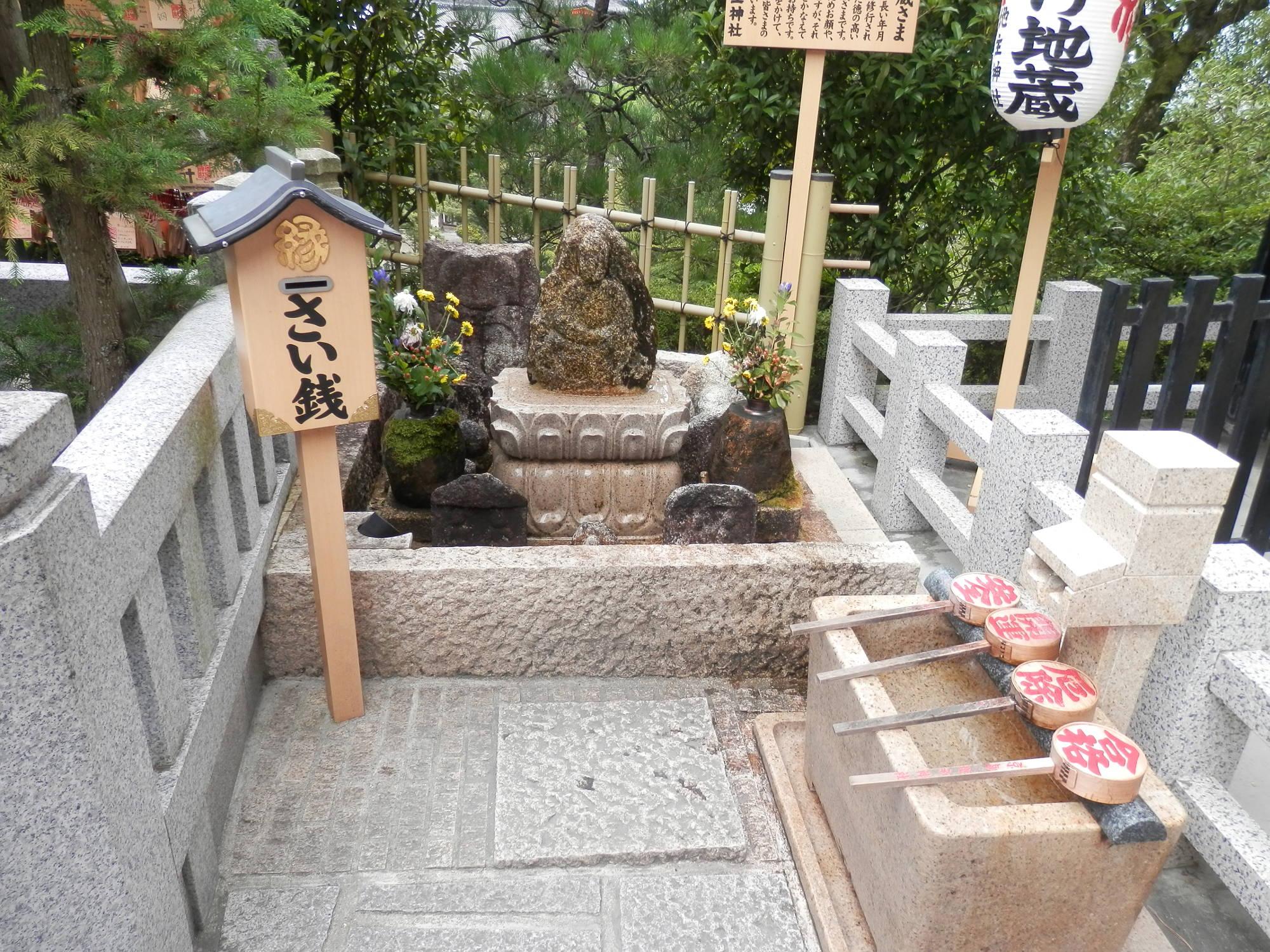 清水寺地主神社 水かけ地蔵