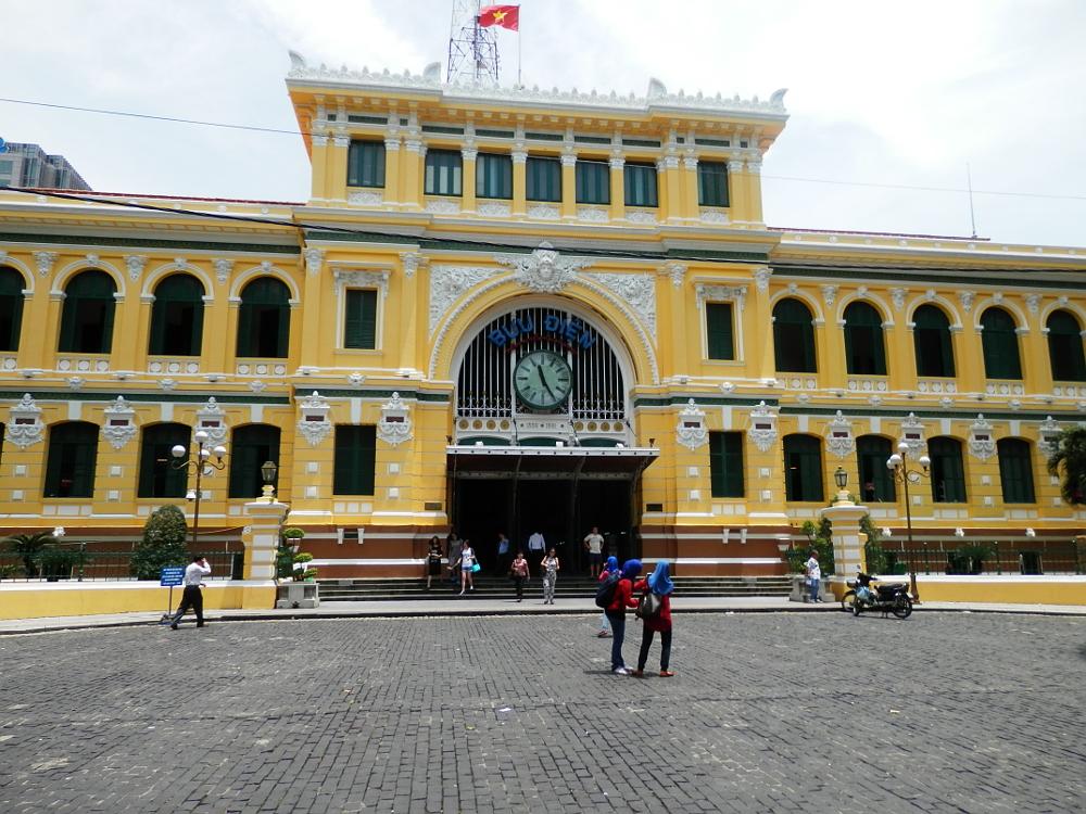 サイゴン中央郵便局 入り口