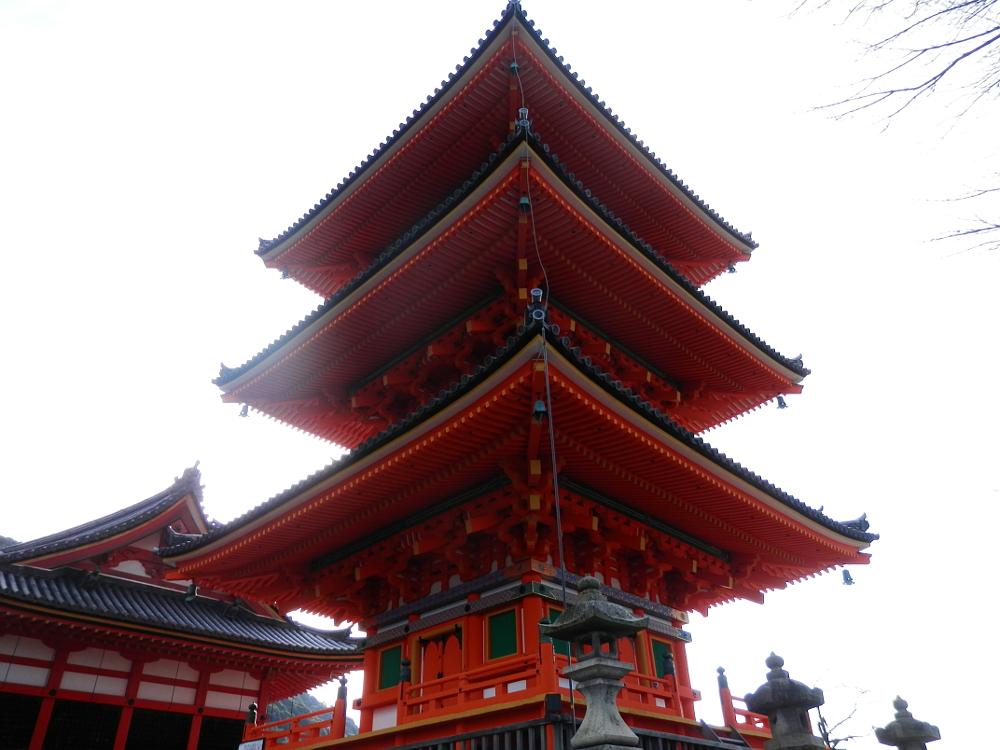 京都清水寺三重塔