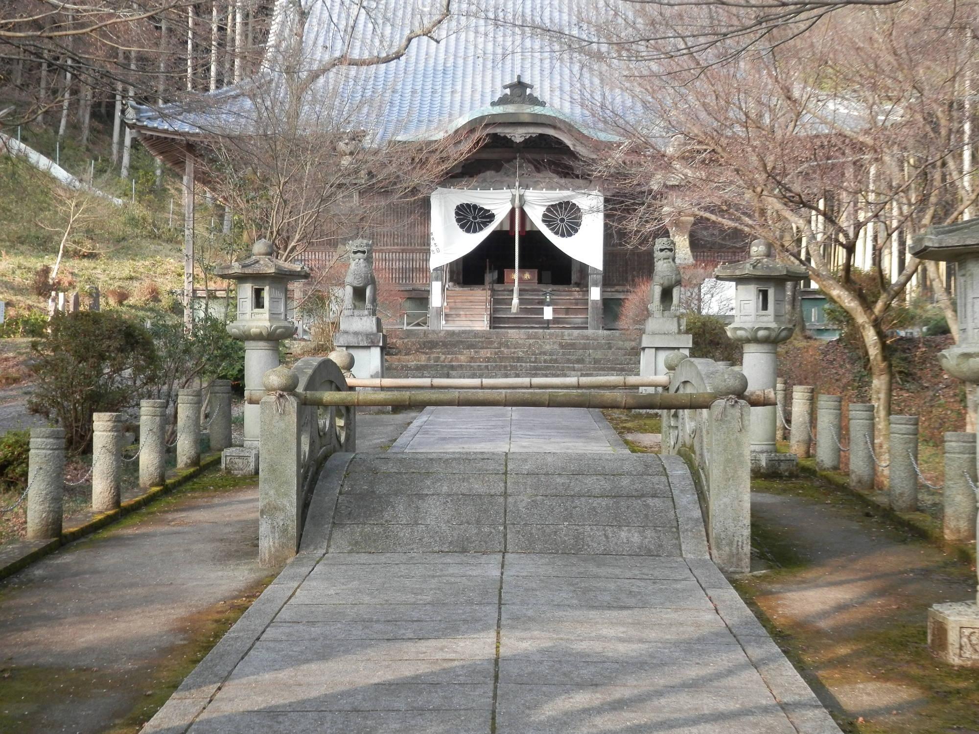 高山寺 本堂前の橋