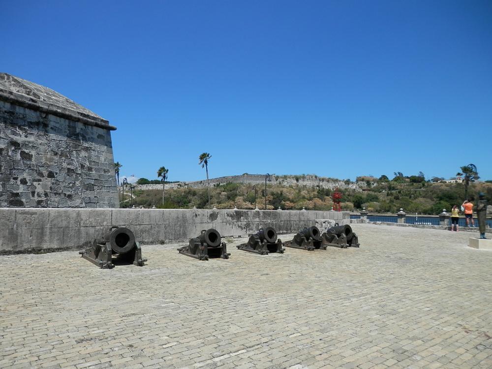 ハバナ フエルサ要塞 固定された大砲
