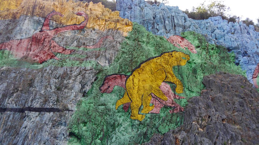 ビニャーレス渓谷ツアー プレイストリアの壁画
