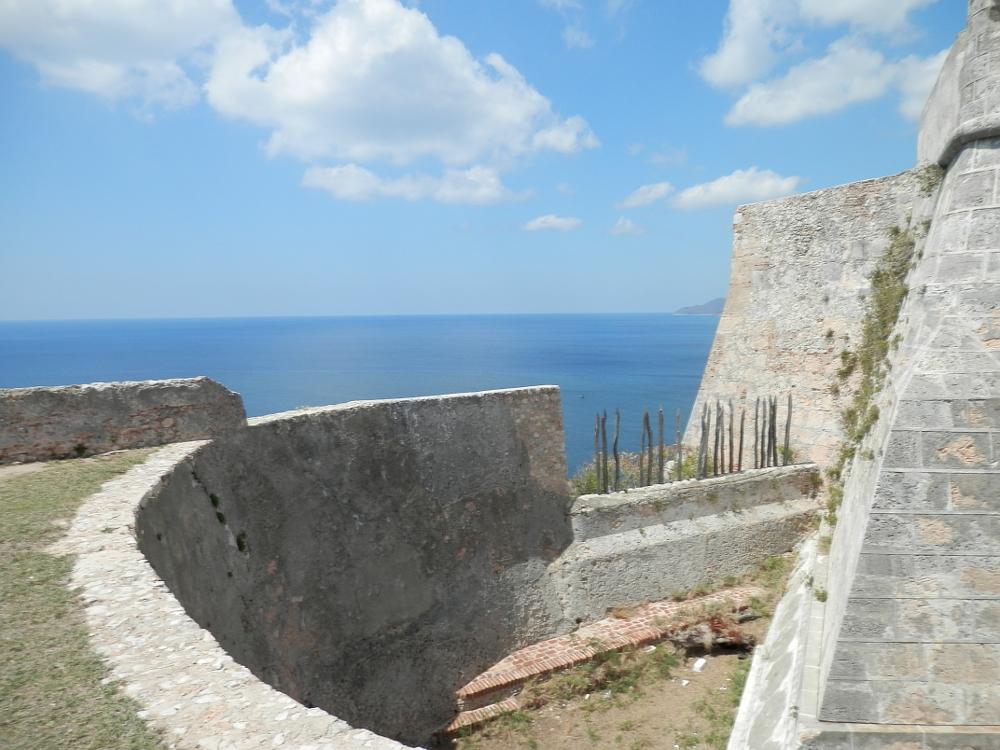 モロ要塞 外壁