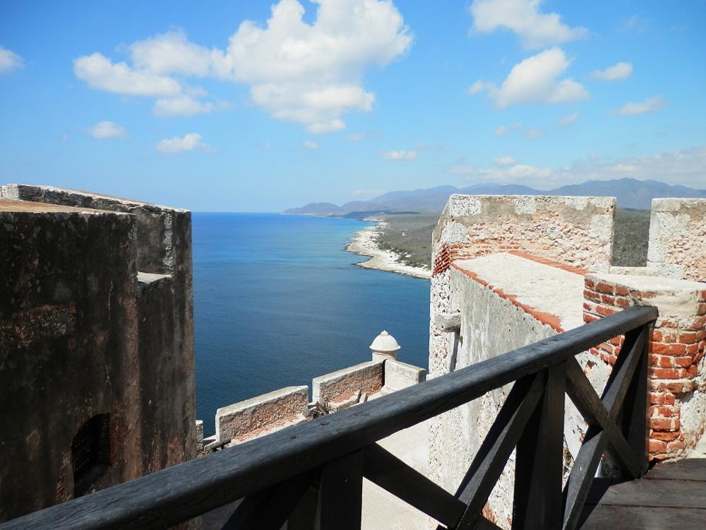 モロ要塞から見た海