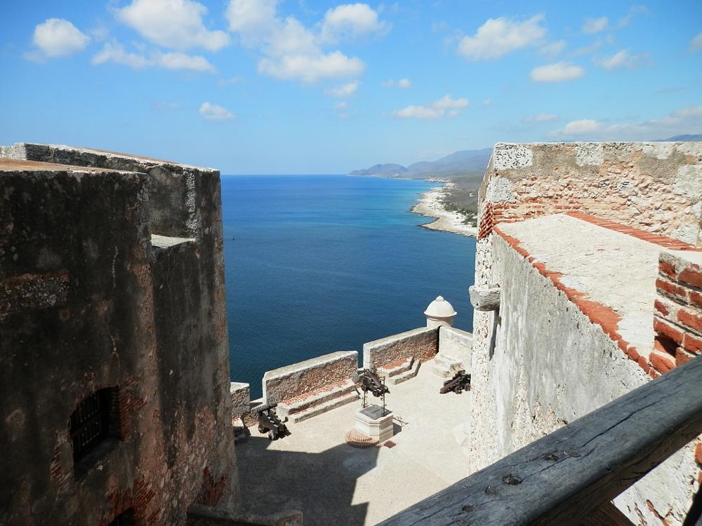 サンティアゴ・デ・クーバ モロ要塞から見た海