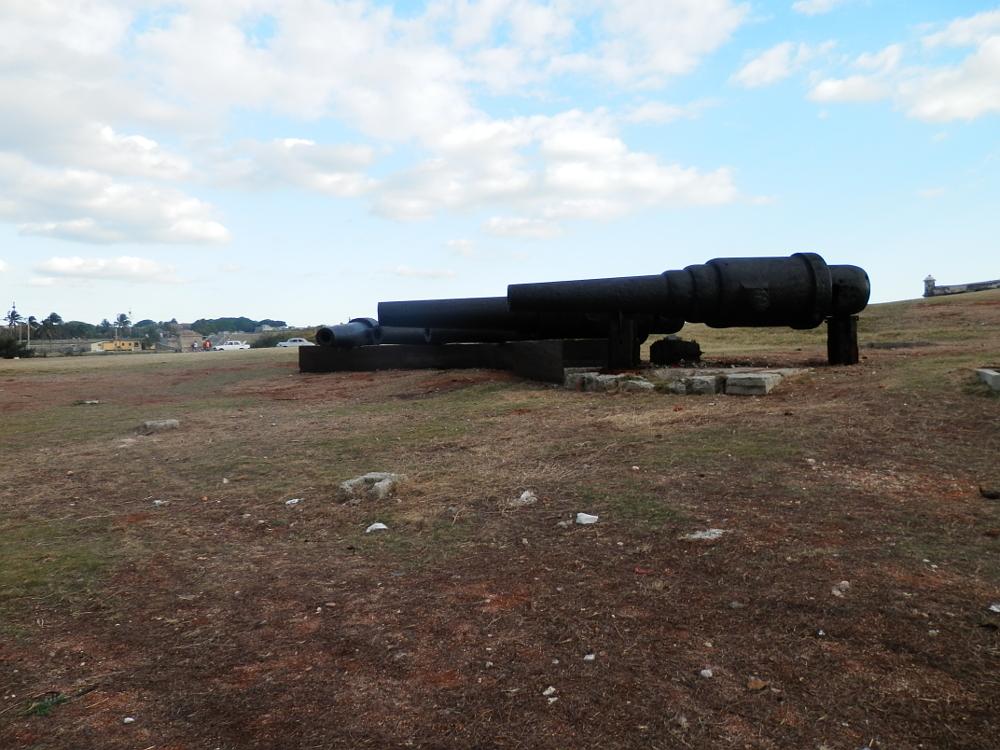 ハバナ旧市街地モロ要塞の大砲