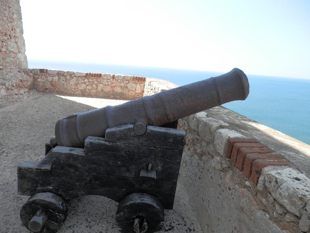 モロ要塞の大砲