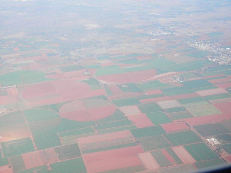 ヌエバヘロナ空港 飛行機からの景色