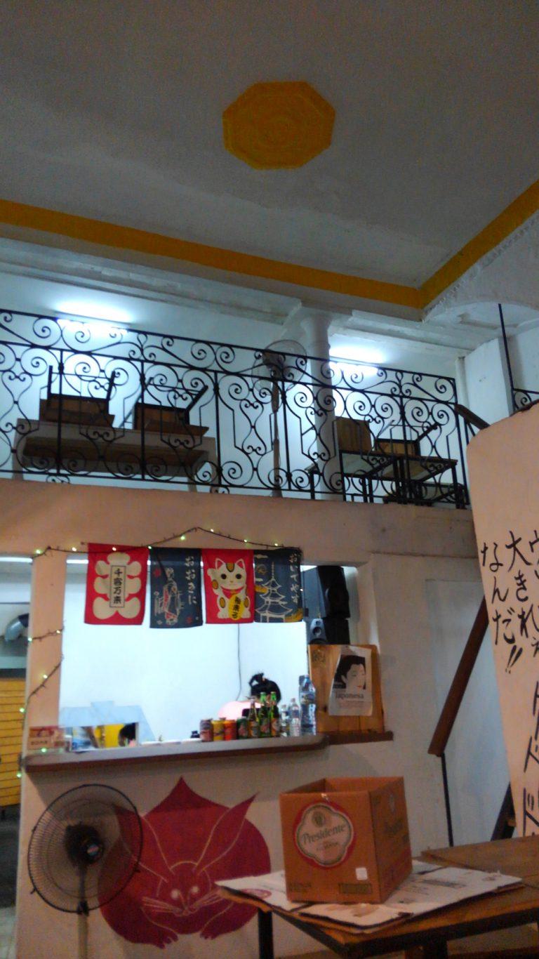 ハバナ旧市街地の日本食堂の店内