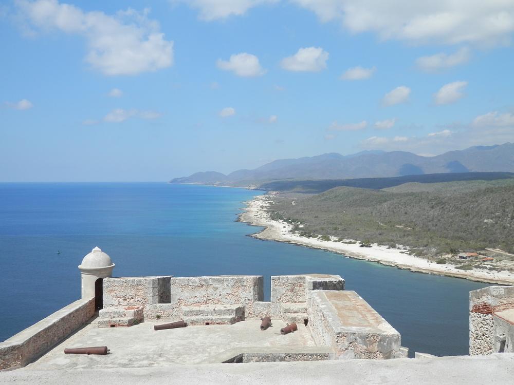要塞から見た海