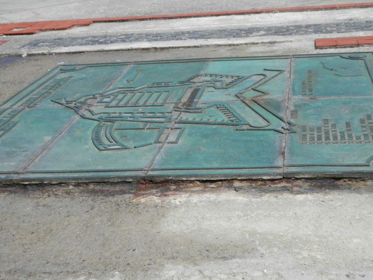 キューバハバナのプンタ要塞の板