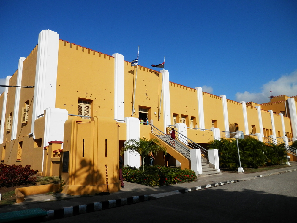 サンティアーゴ・デ・クーバ モンカダ兵営博物館 銃痕