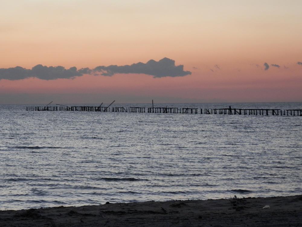 フベントゥド島 夕方の海