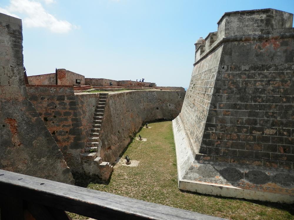 サンティアゴ・デ・クーバ モロ要塞 外壁