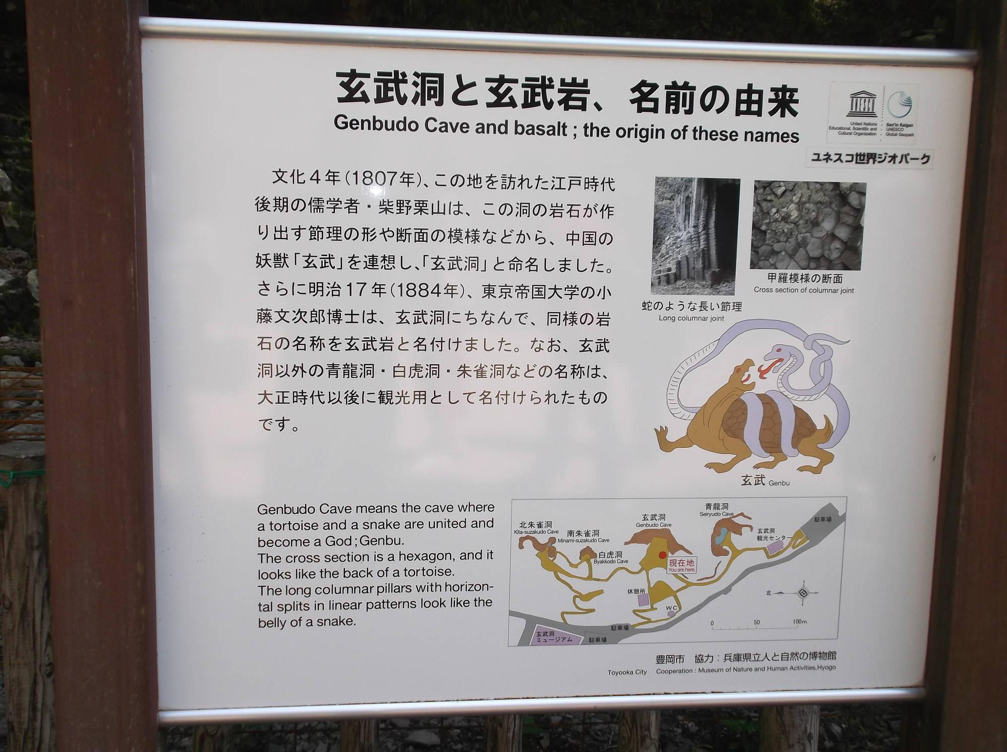 玄武洞と玄武岩の由来