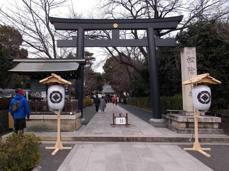 2019年 初詣 松陰神社の鳥居