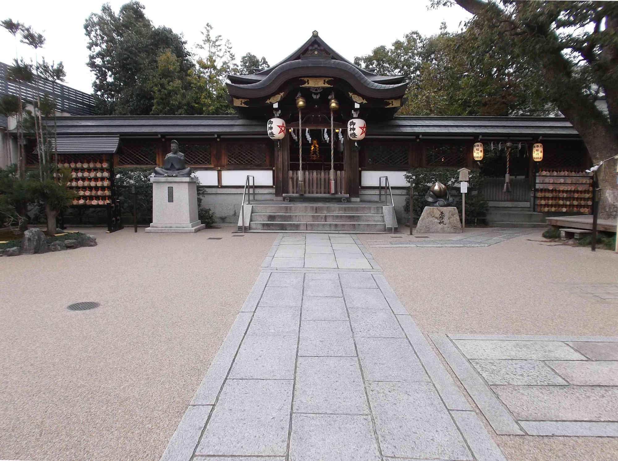 晴明神社の本殿(拝殿)