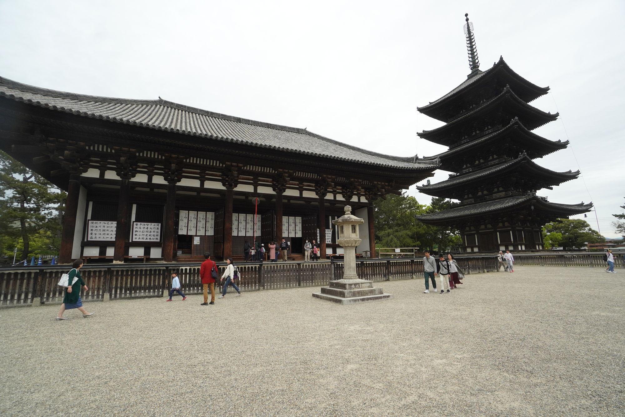 興福寺 東金堂からの五重塔