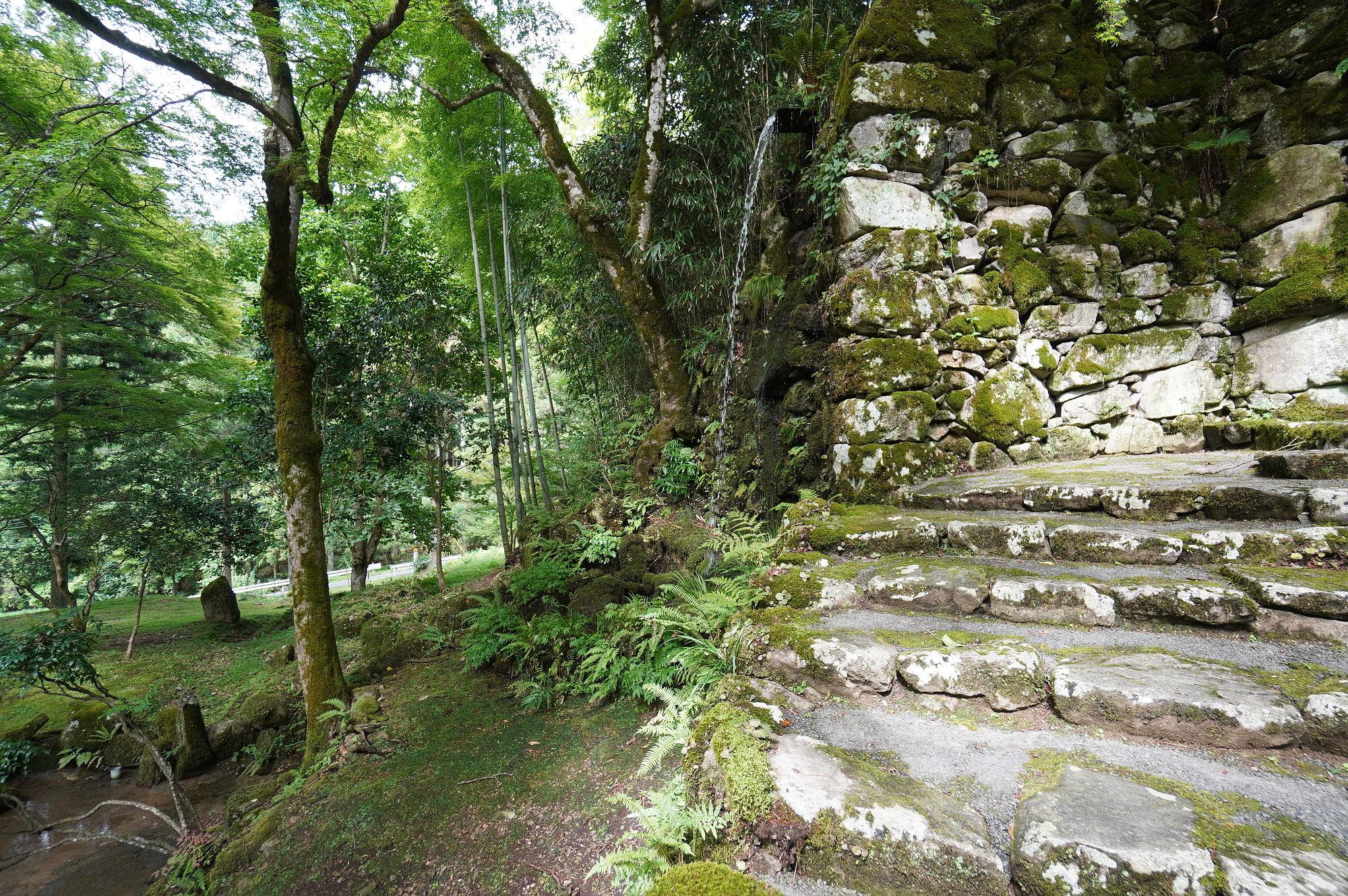 「心字池」の滝