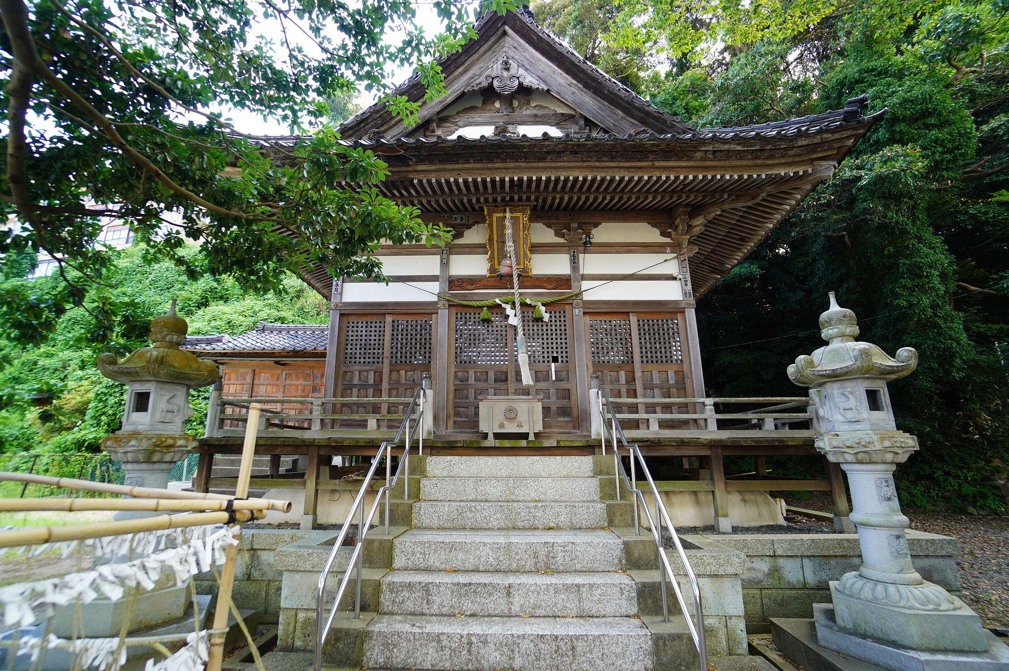 少比古那神社の拝殿