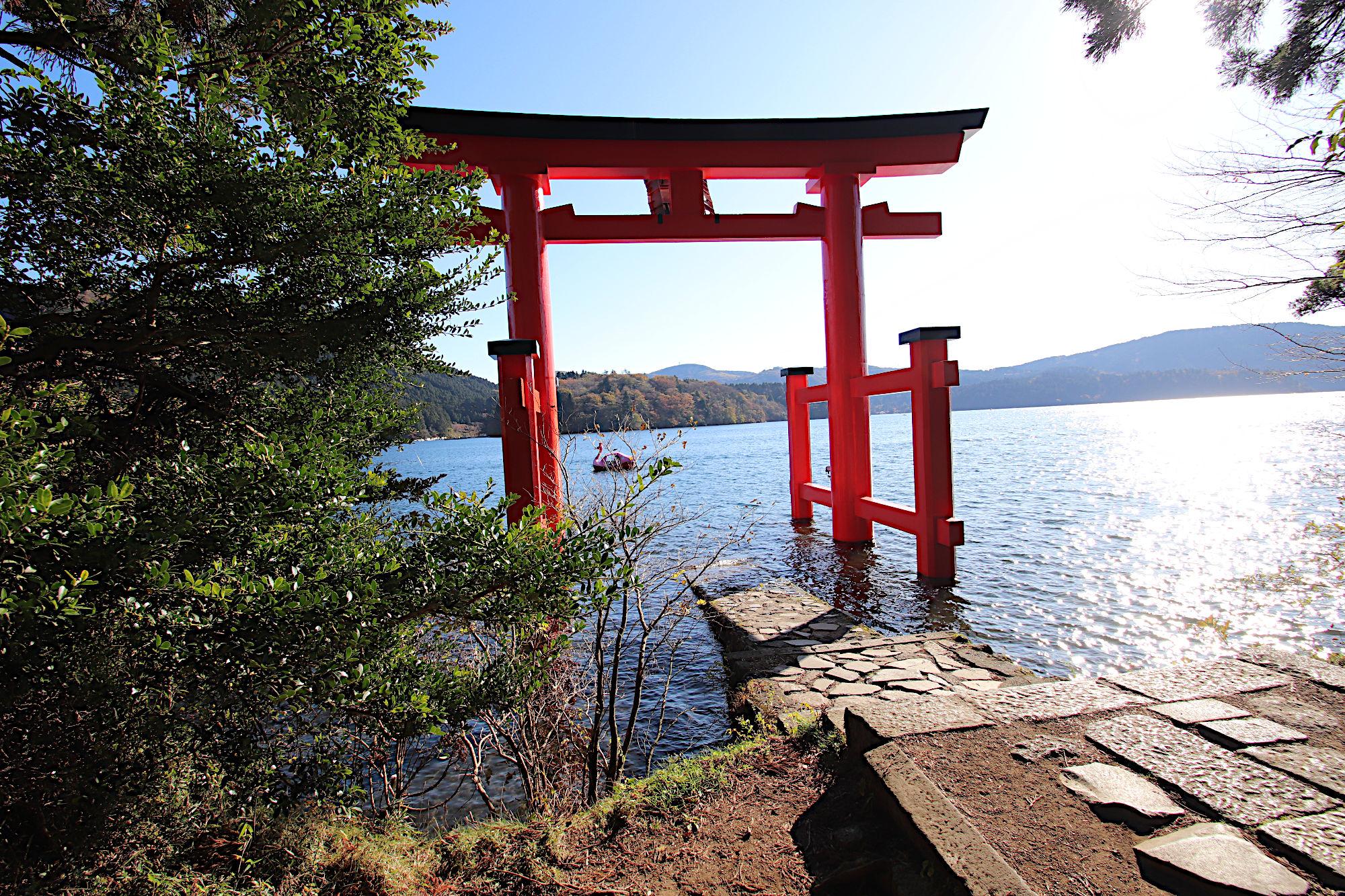箱根神社の「平和の鳥居」