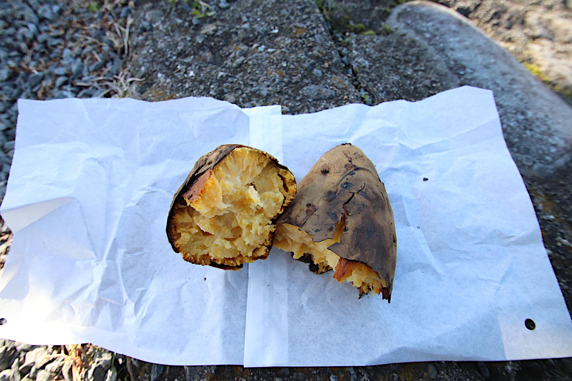 嵐山で食べた焼き芋