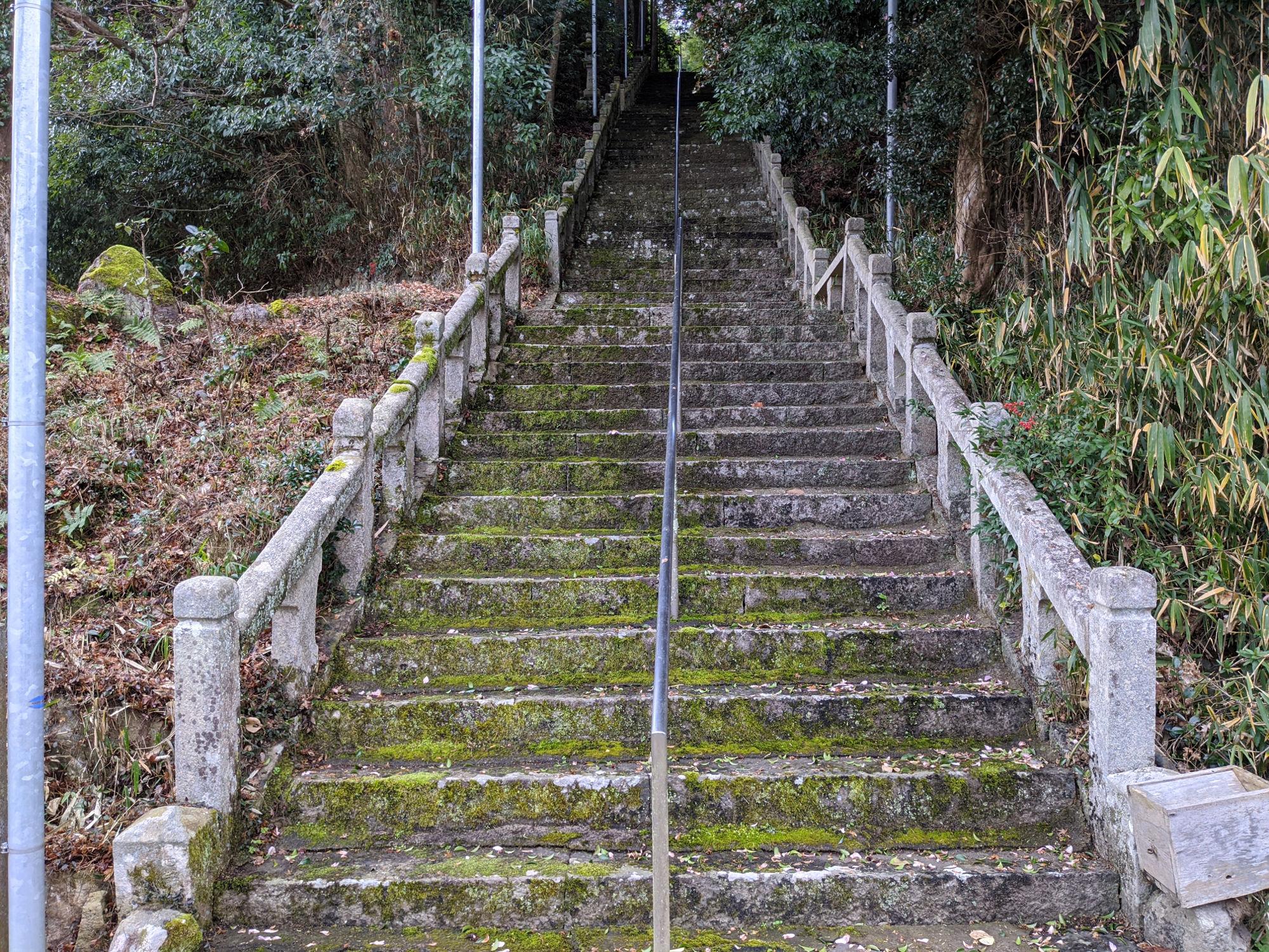 八幡神社の階段