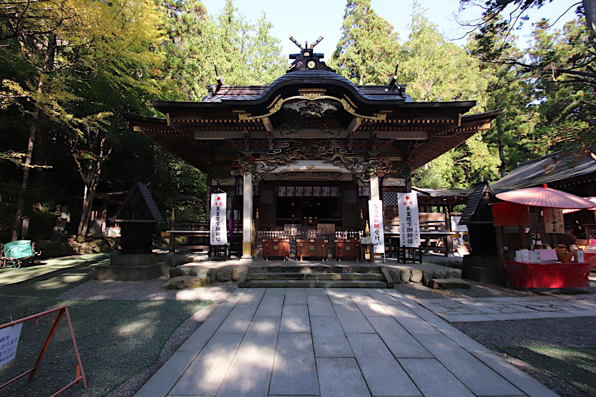 寳登山神社の拝殿