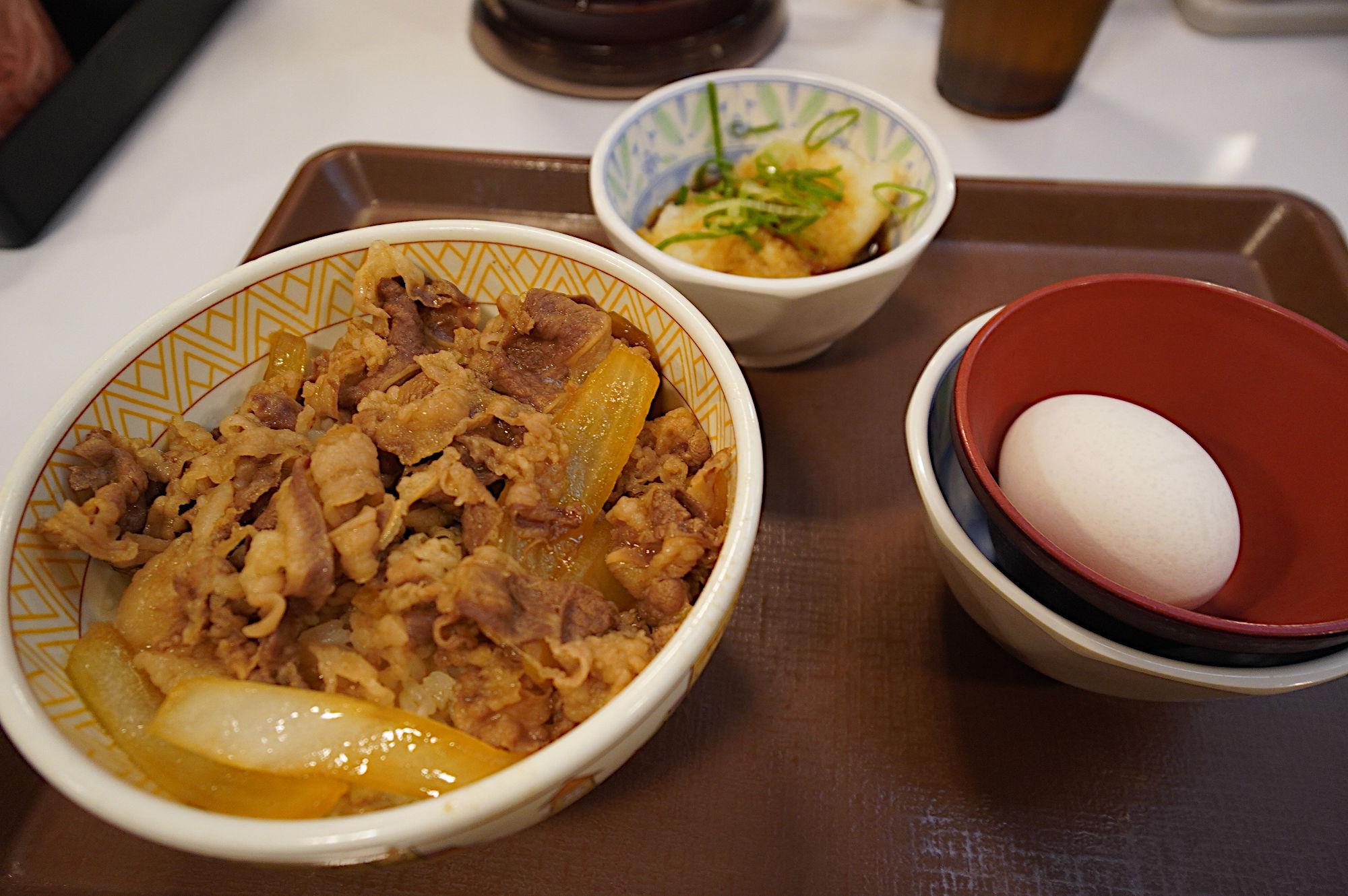 西武秩父駅の「すき家」
