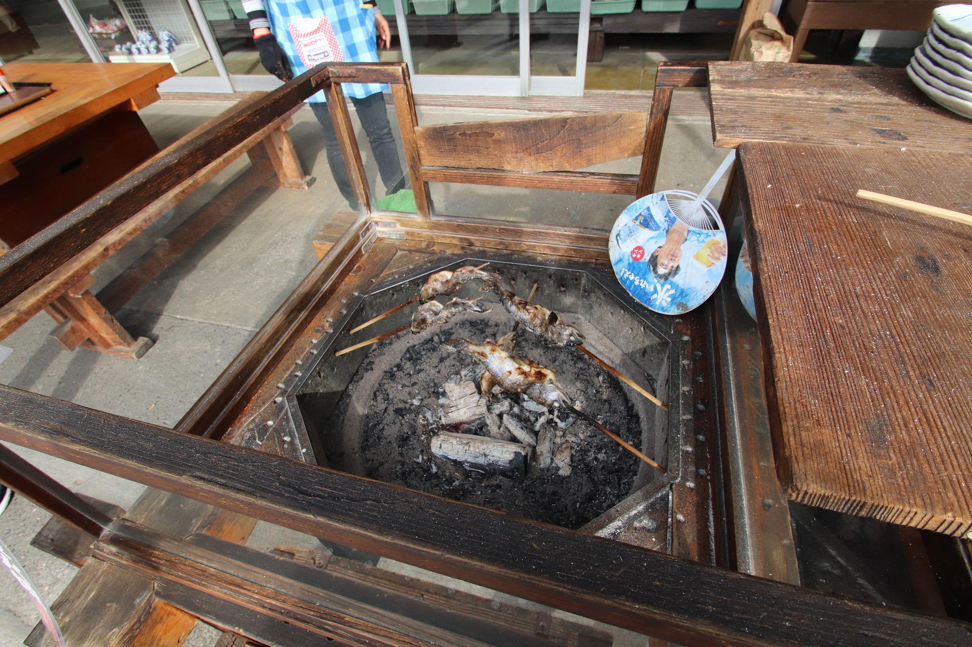 三峰神社 ヤマメの塩焼き